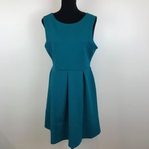 Covington Turquoise Fit and Flare Dress
